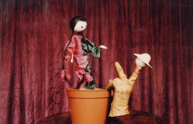 ילדה בתוך עציץ , הצגת ילדים , תיאטרון בובות , תיאטרון הקרון בירושלים